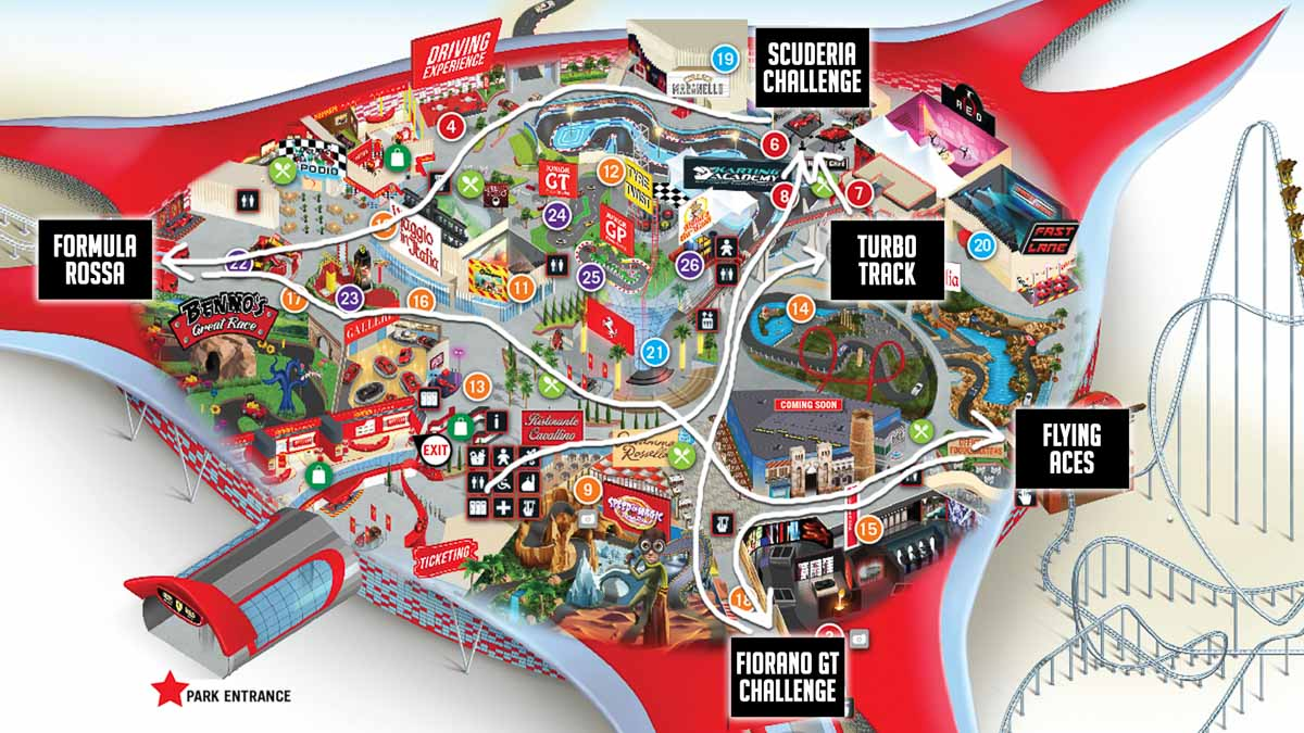 Ferrari world map