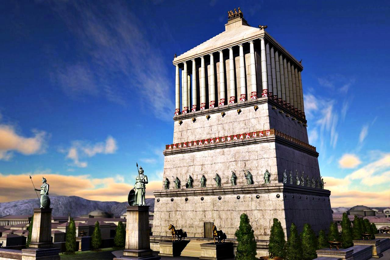 Seven-Wonders-Of-The-Ancient-WorldMausoleum At Halicarnassus