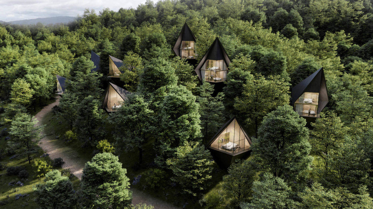 Peter Pichler Architecture Redefining Tourism with Dawson Lake Tree Houses