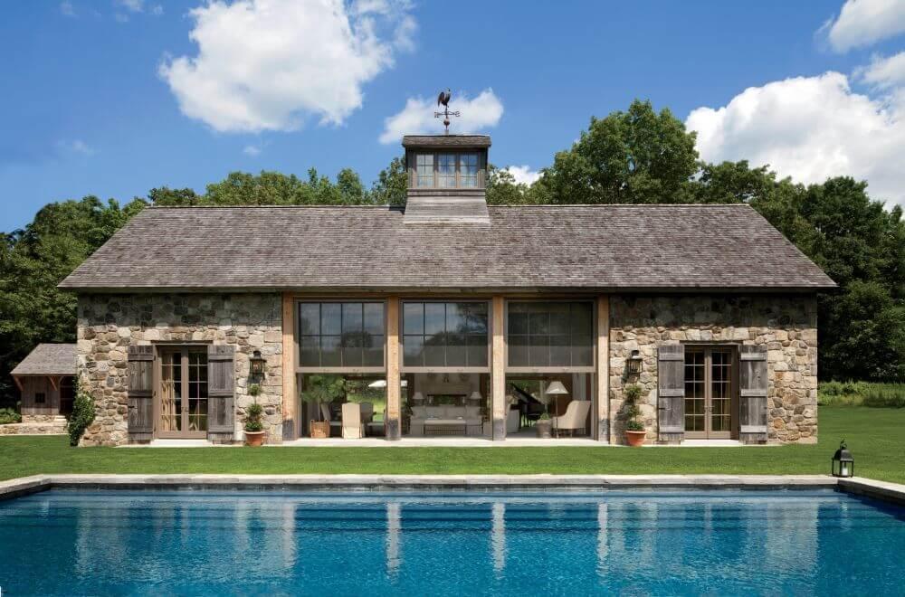 Rustic Stone Poolhouse Ideas