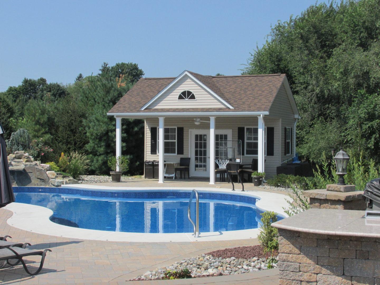 Gable pool house design