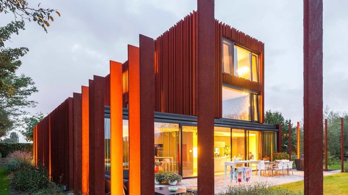 DMOA Architecten Designed A Glorious House In Belgium Using Corten Steel