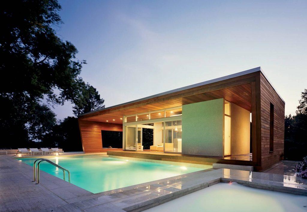 Sculptural Pool Pavillion