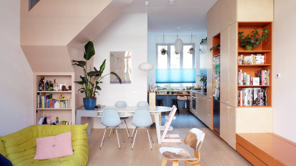 Work Home Play Home: A Colorful Rotterdam House By LAGADO Architects