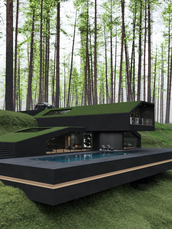 Black villa in Harriman State Park