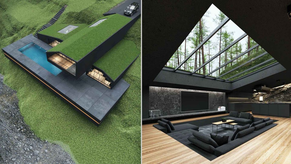 The Luxurious Black Villa in Harriman State Park by Reza Mohtashami!