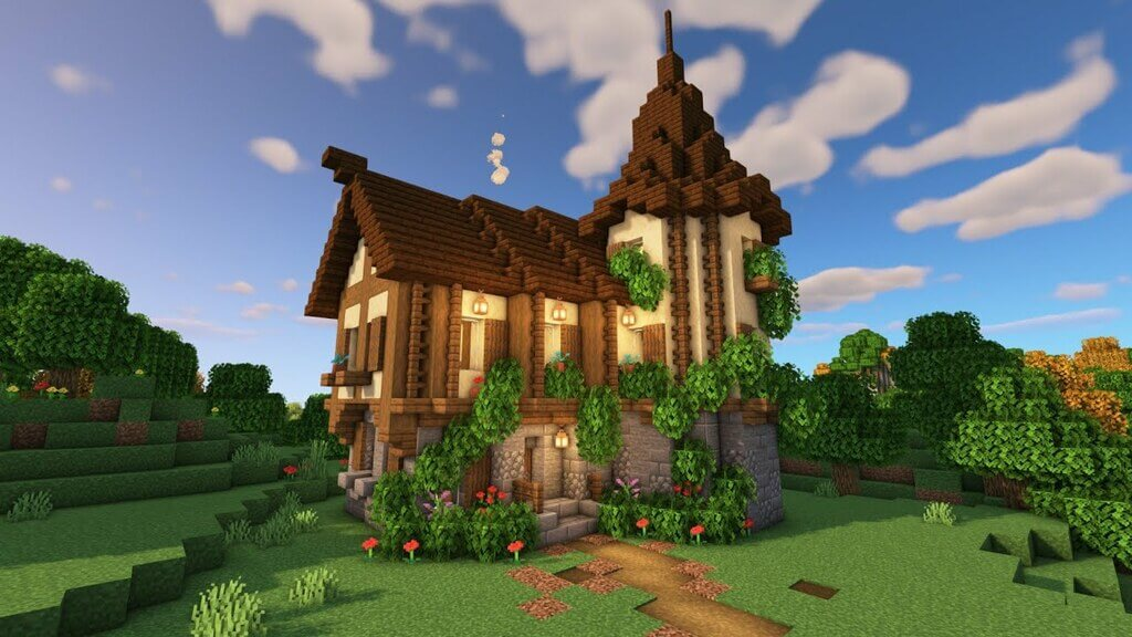 Minecraft Medieval House Tutorial: How to Build a Simple Survival House?