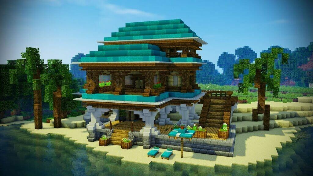 beach house minecraft