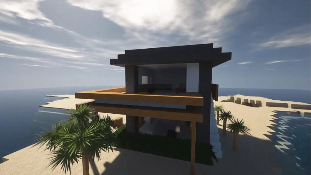 Minecraft Beach House Tutorial Build An Exotic Beach House