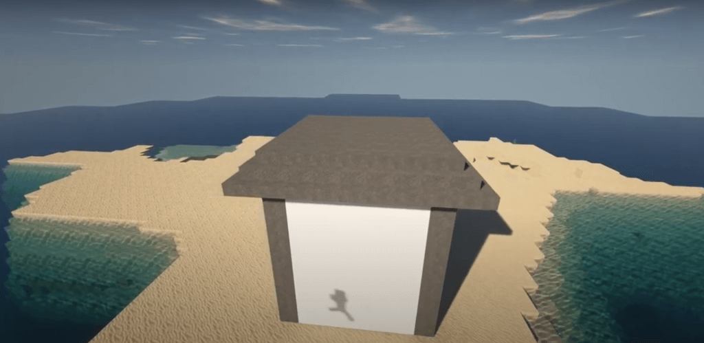 minecraft beach house