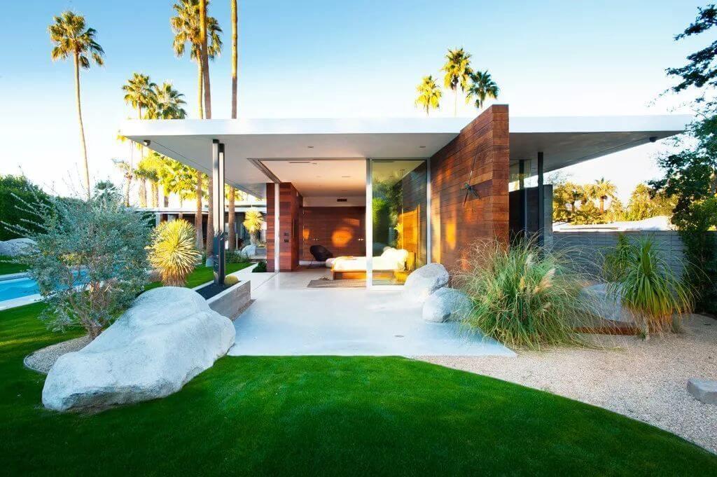 mid century modern house plans