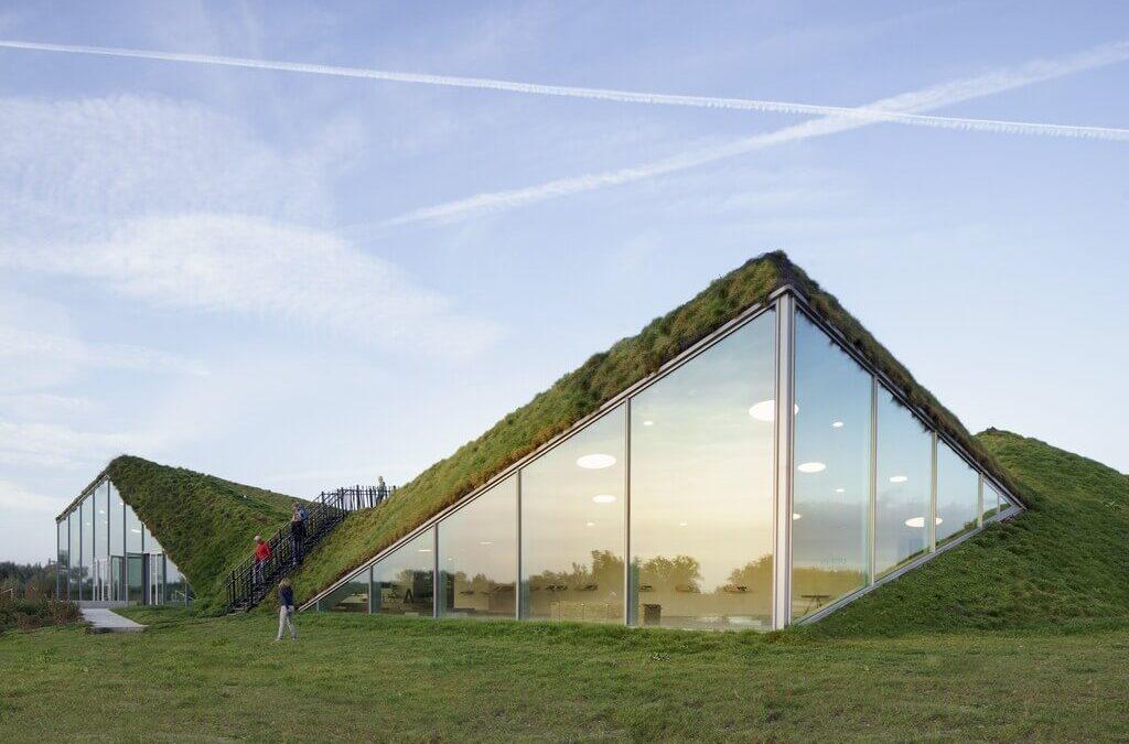 Biesbosch Museum Island: A Pyramid With Grass Blanket!
