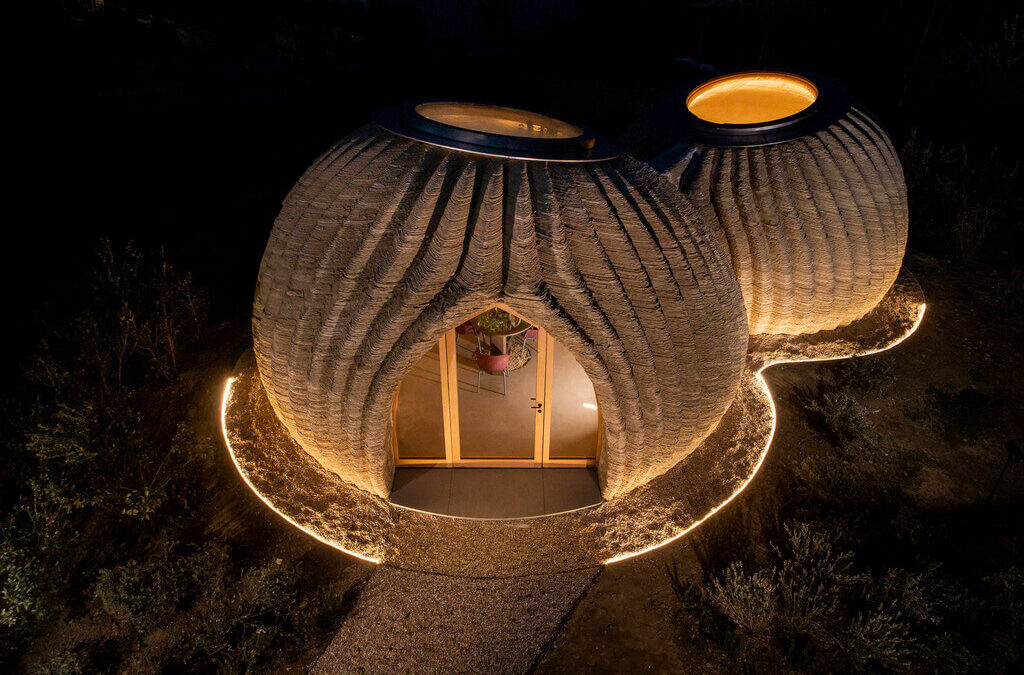 TECLA: A Clay 3D Printed House in Italy By Mario Cucinella Architect