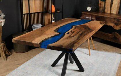 wood and epoxy resin
