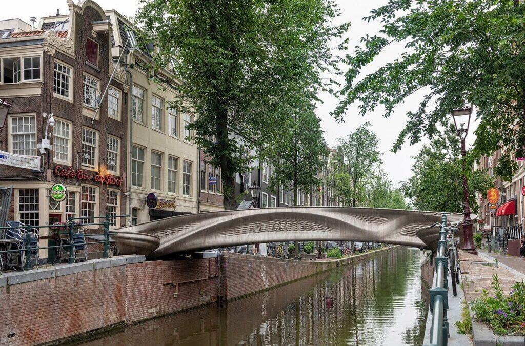 World's First 3D Printed Steel Bridge by Joris Laarman Lab + MX3D + Arup