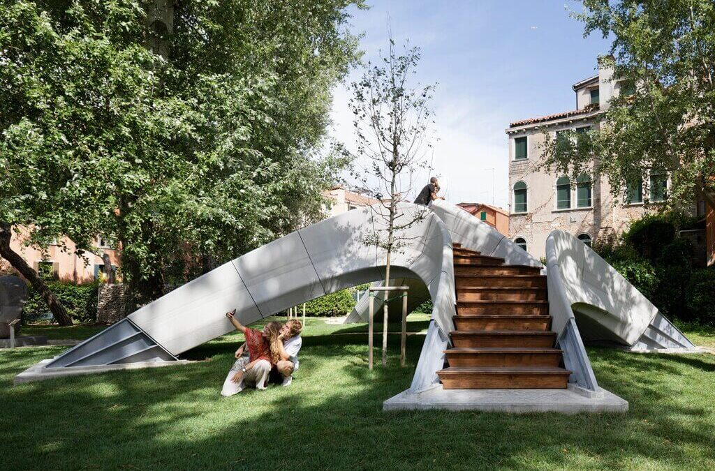 Striatus Bridge by Zaha Hadid Architects + Block Research Group: A Unreinforced, 3D Printed Concrete Design