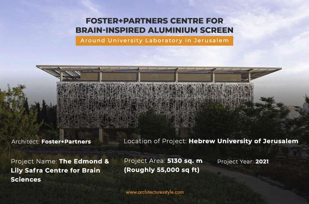 Foster+Partners Centre for Brain-Inspired Aluminium Screen Around University Laboratory in Jerusalem