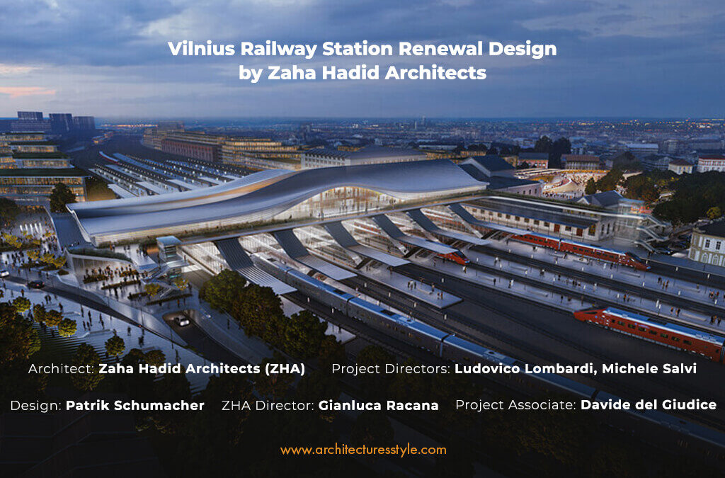 The Commute-Based Vilnius Railway Station Renewal by Zaha Hadid Architects Prioritizes Pedestrians