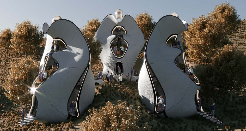 World's First Exosteel Modular- Prefabricated Living Houses by MASK Architects in Sardinia