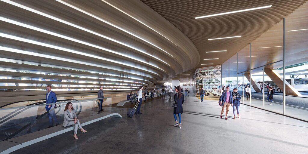 Vilnius railway station renewal by Zaha Hadid Architects