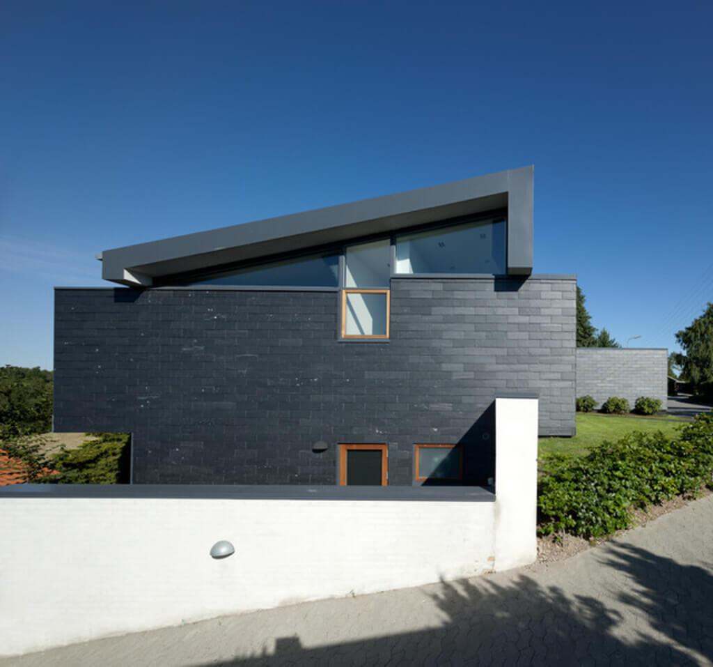 brick house painted black
